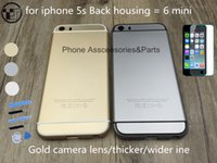 Wholesale Upgrade Housing of mini For iphone s back housing like for iphone mini Housing Gold Silver Grey like