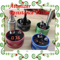 battery resistance meter - Newest Thread Atomizer Resistance Tester ohm meter Clearomizer ohm meter ego battery Voltage Meter e cig tester devic atomizer vapor