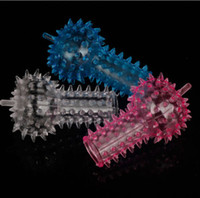 Wholesale New Colorful Finger Jelly Bull Butt Anus Anal G spot Plug Stopper Massage Toy