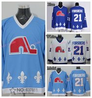 baby hockey jersey - Cheap Quebec Nordiques Throwback Peter Forsberg Hockey Jerseys Home Navy Baby Blue Vintage CCM Peter Forsberg Stitched Jersey