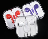 Wholesale Apple s th generation iphone5 s headphone earphone wire with wheat car colored spot headphone mixer YQ2