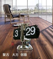 balance digital watch - Global Fashion feet balance automatically flip clock European watch living room grandfather clock