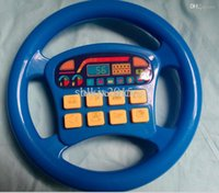 baby steering - new HOT Infant artificial steering wheel music electronic toys blue Various pronunciation Baby toys Music Educational toys