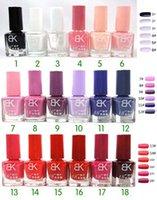Wholesale Fashional BK Nail Gel Polish Nail Polish NEON Colors Soak Off Salon UV Gel Decor Led UV Gel Nail Art Colors ml High Quality