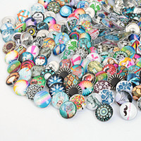 Wholesale JACK88 New Arrival High Quality Mix Styles Ginger Snaps Glass Snaps Fit mm Snaps Buttons Bracelets Diy Jewelry M782