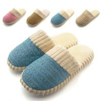Wholesale New Autumn and Winter Warm Men Women Cotton padded Lovers at Home Slippers indoor shoes SL004