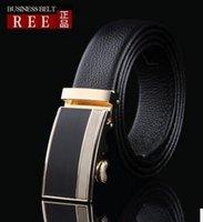 brand designer belts - 2016 new hip brand buckle l designer belts for men women genuine leather gold cinto belt v Men s