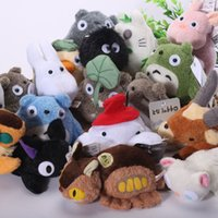 baby doll keychain - My Neighbor Totoro Plush Toys with Keychain Soft Stuffed Animal Dolls Baby Toys Gifts for Children ANPT335