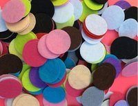 Wholesale 25 mm Insert Felt For Perfume Locket Insert Felt For Essential Oil Locket Aromatherapy Locket Perfume Pads
