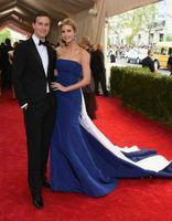 Wholesale 2015 Jared Kushner Met Ball Evening Dresses Bateau Neck Mermaid Zipper Back Chapel Train Long Rd Carpet Celebrity Dresses