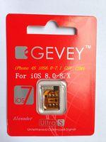 Wholesale MOQ Original Gevey Ultra S Unlock Sim Card iPhone S for iOS9 iOS8 iOS7 iOS GSM with Reset Sim Card