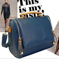 Wholesale New Arrival fashion women cross body bag Barrel shaped Pu women shoulder bag Messenger Bags briefcase handbags