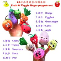 fruits and vegetables - 10 Styles Fruits and Vegetables Finger Puppets Cloth Doll Finger Puppets Hand Puppets For Kids Students Talking Props B001