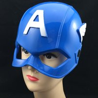 american helmet - Cosplay Captain America Mask Avengers Alliance Party Mask American Superhero Captain America Helmet Cosplay Kid Mask Halloween carnival Mask