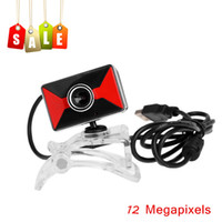 Wholesale 12 Megapixels HD USB Webcam Camera Web Cam Web Camera with Built in MIC for Computer PC Laptop Retail order lt no track