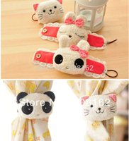 Wholesale Cartoon Plush Curtain Buckle Cute Rabbit Panda Kitten Shape Dolls Curtain Bandage Tie Home Textiles mix order usd