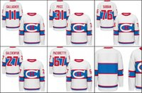Wholesale Brendan Gallagher Winter Classic White Hockey Jerseys Ice Winter Jersey Stitched Logo Authentic Mix Order