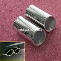 Wholesale Chrome Muffler Exhaust Tail Pipe Tip FOR A4 B8 Stainless Steel Car Silencer