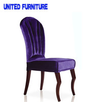 Wholesale high density foam fabric Type and metal iron Style antique wood high back dining chair factory supply