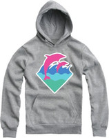 Wholesale Cheap Pink Hoodie - Wholesale-Free shipping hiphop hoodie hip hop brand pink dolphin Sweatshirts cheap pink dolphin hoodies clothing pullover