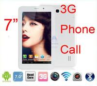 Wholesale Android Tablet PC quot G Phone Call phablet MTK8382 Quad Core GHz GPS Bluetooth vs aoson m723 m33 m33g m71g m1013 m71gs