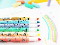 Wholesale NEW PACK COLORS STATIONERY FLUORESCENT HIGHLIGHTER MARKER NITE WRITER PEN STRING TEXT BOOK LINER DOUBLE SIDED OFFICE