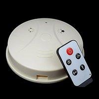 Wholesale 16GB Mini hidden camera Remote control smoke detector alarm home security cameras recorder