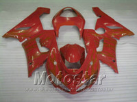 plastic injection molding - Lowest price fairing body kit for Kawasaki Injection molding Ninja ZX R red plastic fairings set ZX6R NB19