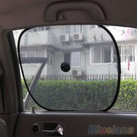 Wholesale 1 Pair Black Mesh Car Side Rear Window Sun Shade Cover Visor Shield Screen QPI