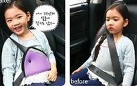 child car safety belt - Triangle Child Car Safety Belt Adjuster Child Resistant Safety Belt Protector Shave Blue Red Beige Baby Car Safety Belt