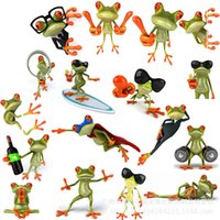 Wholesale Cartoon D stereoscopic personalized frog car stickers with package styles waterproof sunscreen cm cm car sticker