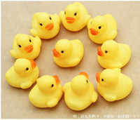 Wholesale Baby Bath Water Toy toys Sounds Yellow Rubber Ducks Kids Bathe Children Swiming Beach Gifts