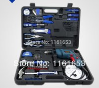Wholesale 2014 Ferramentas Marcenaria Box Multitronics Home Hardware Kit Multifunction Electrical Tools Impact Drill with Combination Sets