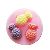 Wholesale New Arrival Mini Pineapple Silicone Fondant Molds D Silicone Chocolate Mould Cake Decor Silicone Chocolate Mold FM163