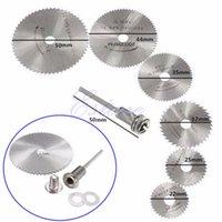 Wholesale For Dremel Cutoff HSS Rotary Circular Saw Blades Tool Cutting Discs Mandrel