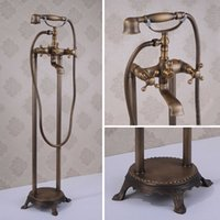 antique style telephone - And Retail Promotion Telephone Style Shower Faucet Antique Brass shower head Bathroom Mixer tap HJ
