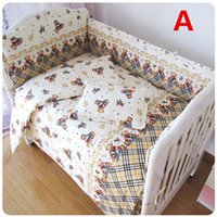 Wholesale 5 Baby Crib Bedding Set Include Bumpers With Filling Sheet Kids Cot Set Colors Cute For Boys Or Girls Comfortable