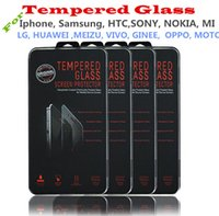 Wholesale 2 D Tempered Glass For Iphone Iphone Plus HTC SONY SAMSUNG MOTO NOKIA LG MI Screen Protector mm Explosion Proof Film Guard FREE DHL