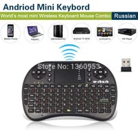 auto ergonomics - Russian and English teclado Mini Wireless Keyboard Mouse With Touch Pad Air Mouse Remote Control Auto Touchpad A5