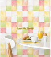 Wholesale PVC self adhesive Mosaic wallpaper Waterproof high quality wall sticker home decor kitchen bathroom HWP
