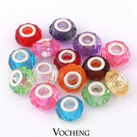 Wholesale in Bulk Cheap Large Hole Bead Acrylic Beads Fit Charm Bracelet Mixed Style Vn Vocheng Jewelry