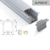 bar cabinet sale - 2015 new Sale m Cabinet Lighting Anodized Aluminum Profile mm Recessed With Flange For v Led Strip led bar ALP003R