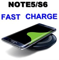 Wholesale 2015 Note5 Qi Wireless Charger Pad For Galaxy s6 S6 Edge plus Nokia Htc LG Iphone Factory