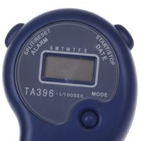 "Cheap Wholesale-New KTJ TA396 1"" LCD Sports Stopwatch w  Time   Date   Week Display - Blue (1 x CR2032) Free Shipping"