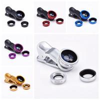 Wholesale 3 in Fish Eye Wide Angle Macro Fisheye Lens Lente Olho de Peixe Para For Celular iPhone Samsung galaxy note S5 Len Lentes