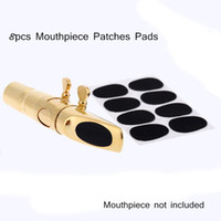 Wholesale 8pcs set Alto Tenor Sax Saxophone Mouthpiece Patches Pads Cushions mm Saxophone Accessories