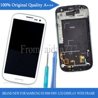 galaxy s3 digitizer - For Samsung Galaxy S3 i9300 i747 i535 White Black Original LCD Assembly Display Touch Screen Digitizer Replacement