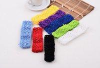 6 inch crochet headbands - 39 Color Kids Headwear Baby inch Crochet headbands Baby Headband Baby Hair Accessories High Quatily Children Headbands B198