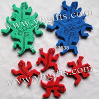 Animals www.yhgifts.com 3 years up 30 Sets (10 bags)   LOT,New Foam puzzle lizard,Puzzle animal,Birthday gifts,Kids party favor,Early educational toys.3 color,OEM