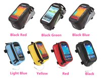 Wholesale 2015 Hot Sale S quot M quot L quot Roswheel Waterproof Outdoor Cycling Bike Bicycle Bag Frame Front Top Tube Bag Touchscreen Phone Bag BI1